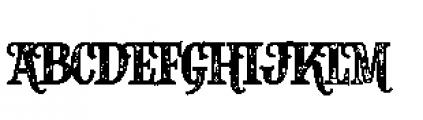 Alfons Slab Printed Font UPPERCASE