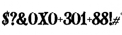 Alfons Slab Regular Font OTHER CHARS
