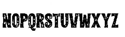 Alfons Tiki Printed Font UPPERCASE