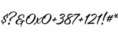 Alisha Regular Font OTHER CHARS