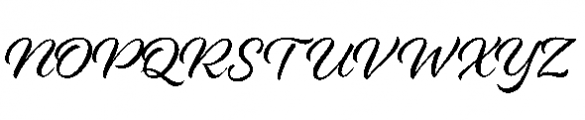Alisha Regular Font UPPERCASE