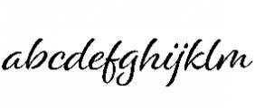 Alisha Regular Font LOWERCASE
