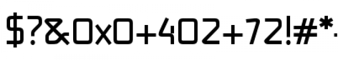 Alpha Delta Bold Font OTHER CHARS