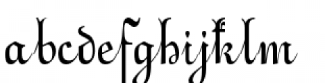 Alsace Lorraine Font LOWERCASE