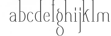 AlisaSerif Typeface 1 Font LOWERCASE