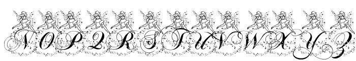 AL Cinderella Font UPPERCASE