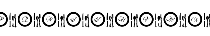 AL Place Settings Letters Font UPPERCASE