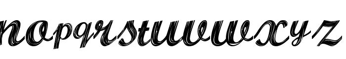 ALBURA Regular Font LOWERCASE