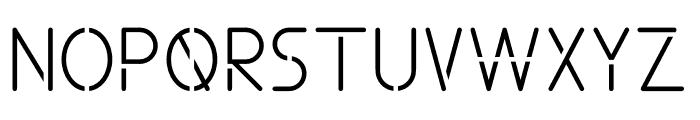 ALDORA Cutting Font UPPERCASE