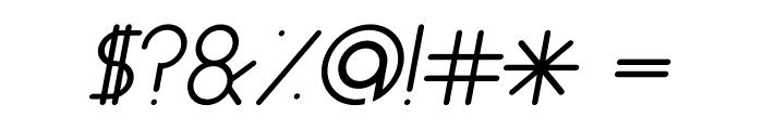 ALDORA Italic Font OTHER CHARS