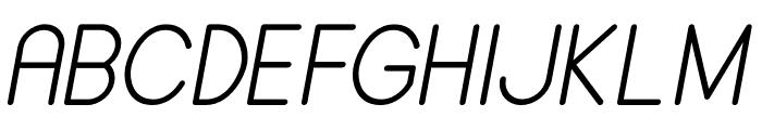 ALDORA Italic Font UPPERCASE