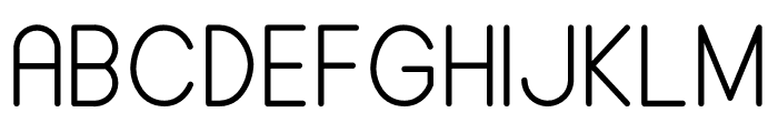 ALDORA Font UPPERCASE