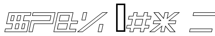 ALPHA    OUTLINE Italic Font OTHER CHARS