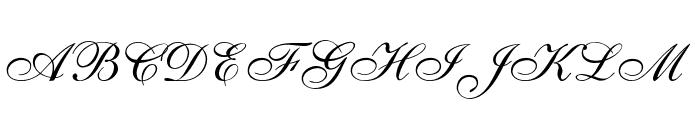 ALS Script Font UPPERCASE