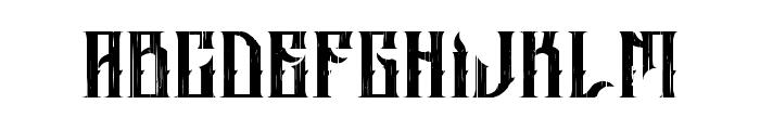 ALTRASHED-rough Font UPPERCASE