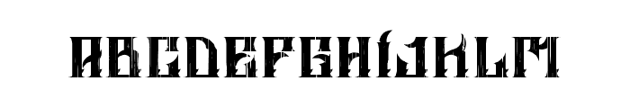ALTRASHED-rough Font LOWERCASE