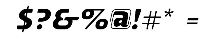 ALusine Oblique Font OTHER CHARS