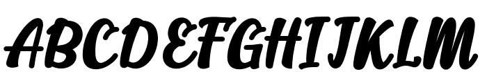 Alakita-Regular Font UPPERCASE