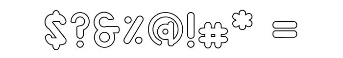 Alaqua Outline Font OTHER CHARS