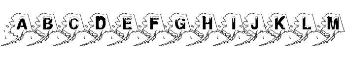 Alaskan Ice Font UPPERCASE