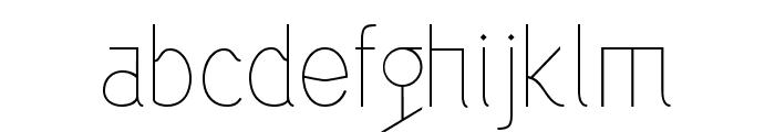 Alazne Light Font LOWERCASE