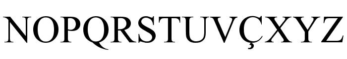 Albanian Font UPPERCASE