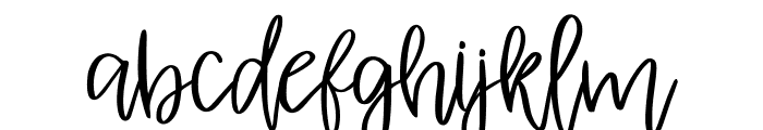 AlbretDemo Font LOWERCASE