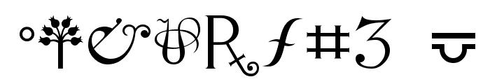 Alchemy Font OTHER CHARS
