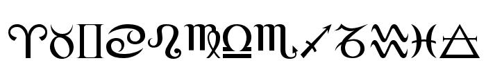 Alchemy Font UPPERCASE