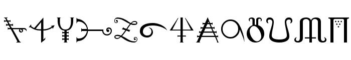Alchemy Font LOWERCASE