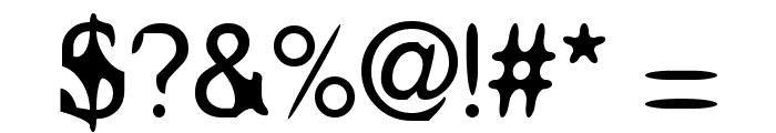 Aleatoria Regular Font OTHER CHARS