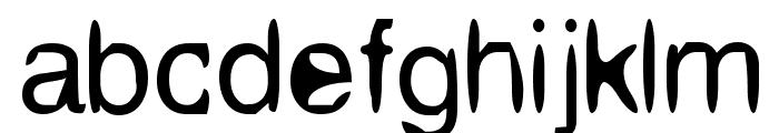 Aleatoria Regular Font LOWERCASE