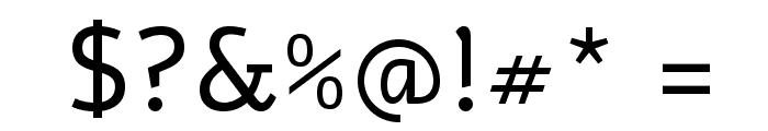 Alef Regular Font OTHER CHARS