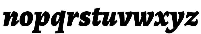 Alegreya Black Italic Font LOWERCASE