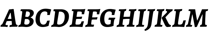 Alegreya Bold Italic Font UPPERCASE