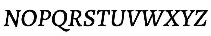 Alegreya Medium Italic Font UPPERCASE