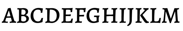 Alegreya Medium Font UPPERCASE
