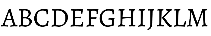 Alegreya Regular Font UPPERCASE