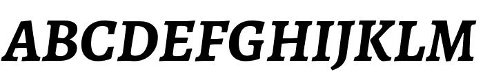 Alegreya SC Bold Italic Font UPPERCASE