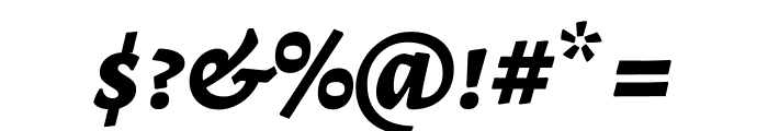 Alegreya SC ExtraBold Italic Font OTHER CHARS