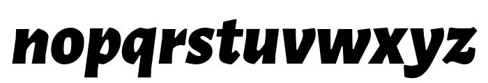 Alegreya Sans Black Italic Font LOWERCASE