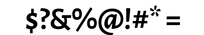Alegreya Sans Bold Font OTHER CHARS
