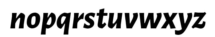 Alegreya Sans ExtraBold Italic Font LOWERCASE