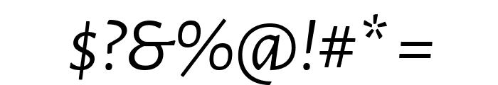 Alegreya Sans Italic Font OTHER CHARS