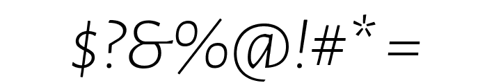Alegreya Sans Light Italic Font OTHER CHARS