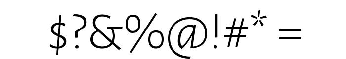 Alegreya Sans Light Font OTHER CHARS