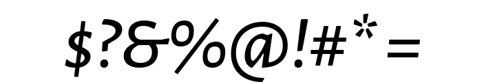 Alegreya Sans Medium Italic Font OTHER CHARS