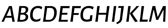 Alegreya Sans Medium Italic Font UPPERCASE