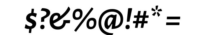 Alegreya Sans SC Bold Italic Font OTHER CHARS