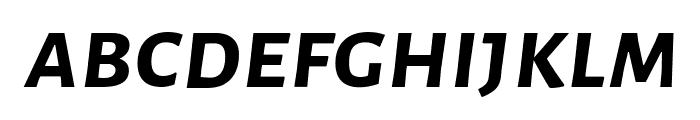 Alegreya Sans SC Bold Italic Font LOWERCASE
